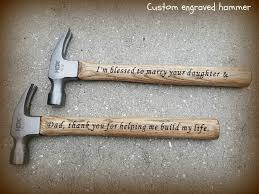 custom engraved hammer with your choice of color perfect gift for dad groom or groomsmen