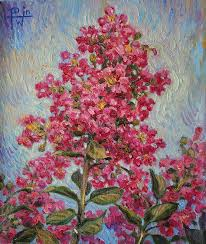 Crepe Myrtle Painting by Henry Potwin
