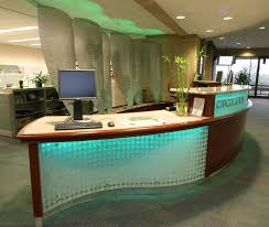 empire exhibits worked with the design team from rpi to develop the reception desk at the folsom library custom reception desk kiosks workstations and