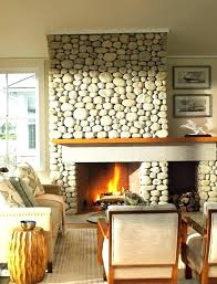 painted rock fireplace rock fireplace makeover river rock fireplace makeover home design ideas river rock fireplace