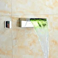 wall mounted waterfall wall mounted waterfall bath taps with shower attachment