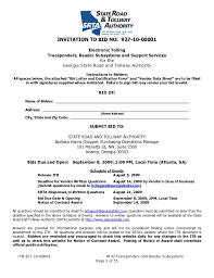 Bid Invitation Letter Template