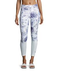 adidas leggings. adidas by stella mccartney sprint web performance running tights/leggings, white/blue leggings