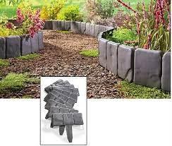 interlocking faux stone border edging