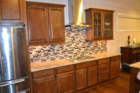 wood kitchen cabinets mission style medium oak antique white vintage small appliances fridge retro old stoves