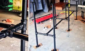 painting steel pipe desk
