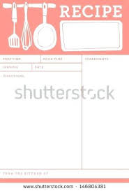 recipe template free template blank recipe templates for word image free paper
