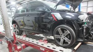 frame repair car on lift