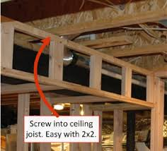 beam kitchen bulkhead soffit framing for a finished basement bathroom