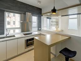 Small Kitchen Modern Picture Of Modern Small Kitchen Idea Peninsula With Seating