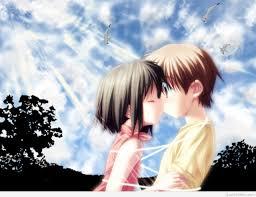 beautiful cartoon couple with romantic love e ez