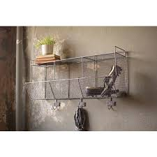 Coat Rack With Storage Baskets Raw Metal Wire Wall Storage Baskets With Coat Hook Hooks Bathroom 39