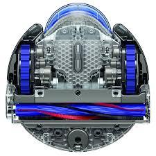 The underside of Dyson's 360 Eye robot vacuum.