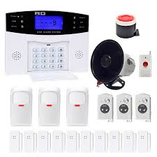 amgaze wireless home and business security alarm system diy kit with auto dial outdoor siren and more for complete home and business security