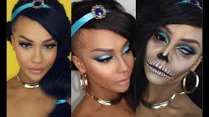 halloween disney princess jasmine clic glam hair zombie makeup sonjdradeluxe