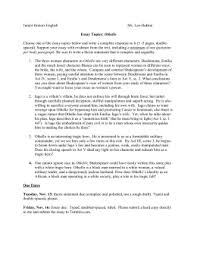 othello act iv study guide othello essay topics