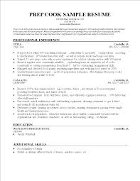 Prep Cook Resume Sample full size of resumecute line cook sous chef resume wondrous lead 75