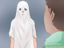 ghost costumes sheet how to make a ghost costume with pictures wikihow