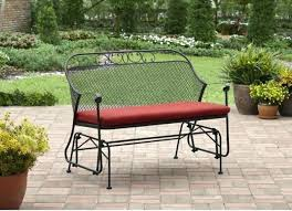 rocking bench outdoor patio glider bench patio glider swing wrought iron metal bench outdoor furniture front