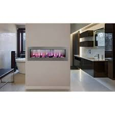 napoleon clearion see through electric fireplace kitchen