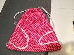 drawstring backpack super easy