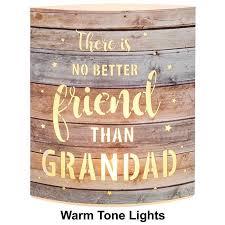 details about grandad gift no better friend light up mantel plaque 282606