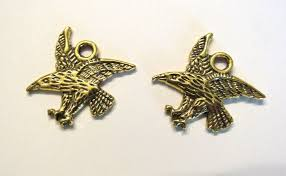 gold eagle charm 4 antique 21mm deled one sided drop native american alaskan tribal whole jewelry supply southwest crazycoolstuff