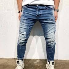fashion pig blue Hip-hop <b>slim</b> Jean   <b>Slim</b> fit <b>ripped</b> jeans, <b>Slim man</b> ...