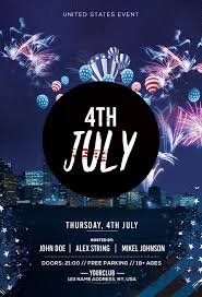 4th July Free Psd Flyer Template Free Psd Flyer Templates