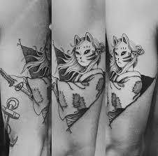 Kitsune тату идеи для татуировок татуировки и самурайское тату
