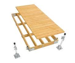 wood dock commercial grade stationary dock