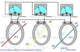 3 phase ammeter wiring diagram 3 image wiring diagram ct installation ammeters for 3 phase system electrical on 3 phase ammeter wiring diagram
