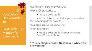 ap literature friday th ppt 7 vocabulary