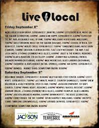 Jackson, Tennessee – Looking For Live Music, September 7 Weekend