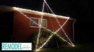 Outdoor Lighting Christmas Stars Diy Giant Lighted Christmas Star Outdoor Christmas Light