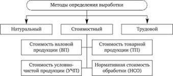 Показатели и методы измерения производительности труда Экономика  Натуральный метод состоит в том что производительность труда или выработка определяется путем деления количества произведенной продукции в физических