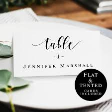 Wedding Name Cards Template Rustic Wedding Table Card