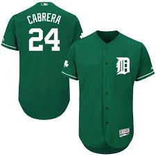 Men's Detroit Tigers Miguel Cabrera Majestic Fashion Green Celtic Flex Base  Authentic Collection Player Jersey