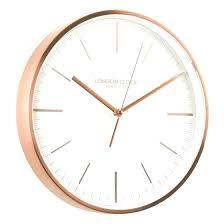 silent wall clocks uk clocks titanium copper white circular silent wall clock silent sweep wall clocks silent wall clocks uk