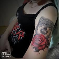 Tetování Růže A Vlk Tetování Tattoo