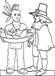 Small Picture FREE Printable Pilgrim and Indian Coloring Page for Kids 3
