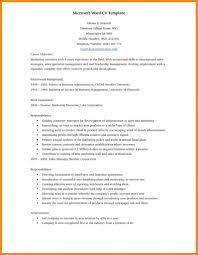 Professional Cv Format Doc Modern Resume Template Word Info Doc Free