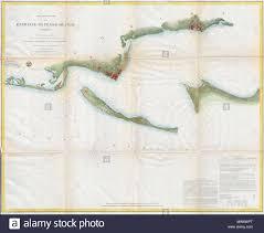 Us Navy Nautical Charts Preliminary Chart Of The Entrance To Pensacola Bay Florida