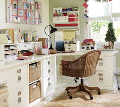 reworking home office. simple home office with modular cabinets and rattan chair reworking