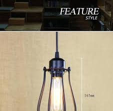 wireless pendant light fixtures battery powered led lamp vintage retro loft iron metal hanging fixture classic