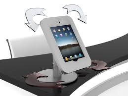 4 ft charging station counter with ipad mount 4 3x1 9x3 5 ft plum grove