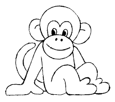 Monkey Coloring Pages Monkey Coloring Page 3 Free Printable