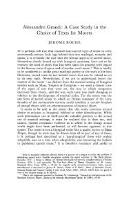 Alessandro Grandi: A Case Study in the Choice of Texts for Motets   Journal  of the Royal Musical Association   Cambridge Core