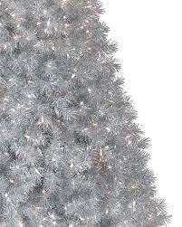 Grey Christmas Tree Silver Stardust Tinsel Artificial Christmas Tree Treetopia