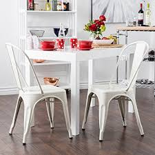 vintage style chairs.  Vintage Belleze Set Of 4 Vintage Style Dining Chairs Steel High Back Side  Stool Intended R
